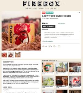 Firebox chicken sales page