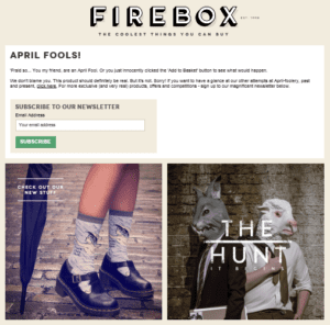 Firebox chicken sales page buy now landing page