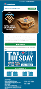 dominos april fools email