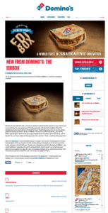 dominos april fools email landing page
