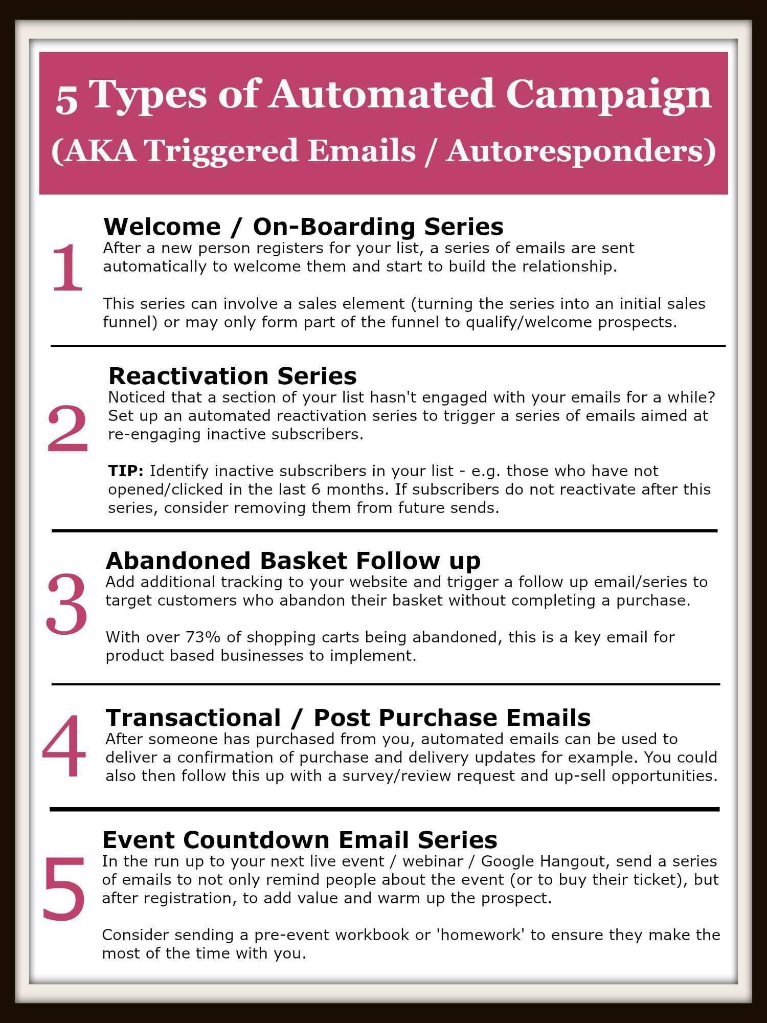 5 types of Automated Campaigns
