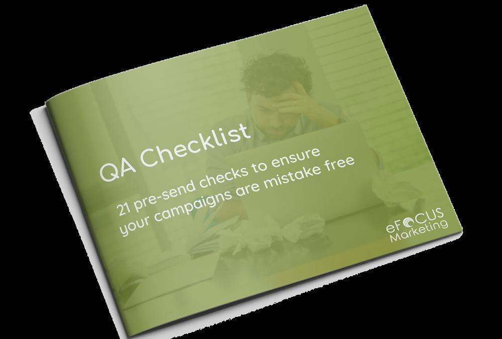 QA Checklist – 21 pre-send checks to ensure your campaigns are mistake free